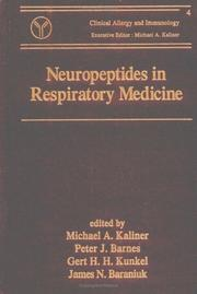 Cover of: Neuropeptides in respiratory medicine |