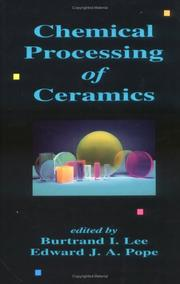 Cover of: Chemical processing of ceramics |