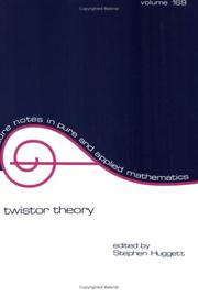 Cover of: Twistor theory |