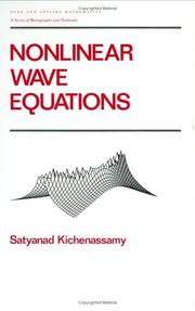 Cover of: Nonlinear wave equations