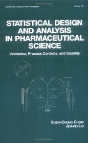 Cover of: Statistical design and analysis in pharmaceutical science