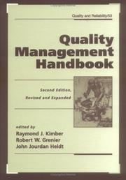 Cover of: Quality management handbook |