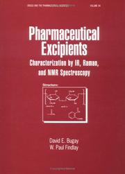 Pharmaceutical excipients by David E. Bugay