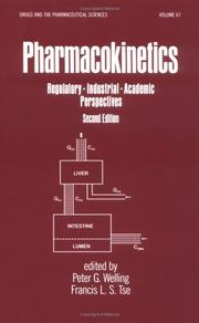 Cover of: Pharmacokinetics |