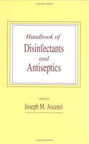 Cover of: Handbook of disinfectants and antiseptics |