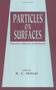 Cover of: Particles on Surfaces | K.L. Mittal