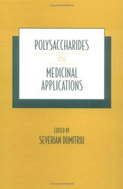 Cover of: Polysaccharides in medicinal applications |