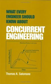 Cover of: What every engineer should know about concurrent engineering