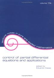Cover of: Control of partial differential equations and applications |