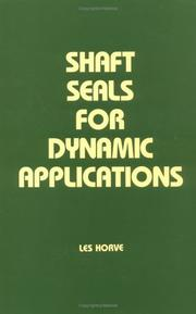 Cover of: Shaft seals for dynamic applications