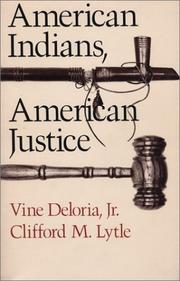 Cover of: American Indians, American justice