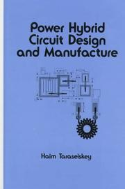 Cover of: Power hybrid circuit design and manufacture