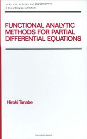 Cover of: Functional analytic methods for partial differential equations