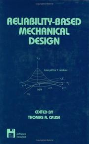 Cover of: Reliability-based Mechanical Design (Mechanical Engineering (Marcell Dekker))