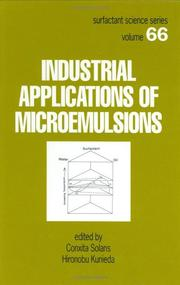 Cover of: Industrial applications of microemulsions |