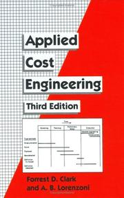 Cover of: Applied cost engineering