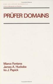 Cover of: Prüfer domains