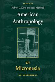 Cover of: American Anthropology in Micronesia |