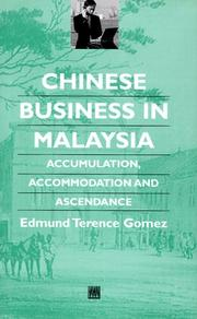 Cover of: Chinese business in Malaysia
