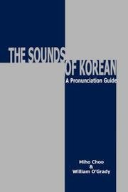 Cover of: Sounds of Korean | Miho Choo