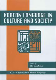 Cover of: Korean Language in Culture And Society (Klear Textbooks in Korean Language) | Ho-Min Sohn
