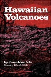 Cover of: Hawaiian Volcanoes (A Latitude 20 Book) | Clarence E. Dutton