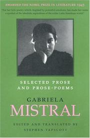 Cover of: Selected Prose and Prose Poems (LLILAS Translations from Latin America Series) | Gabriela Mistral