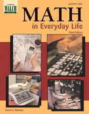 Cover of: Math in everyday life | David E. Newton