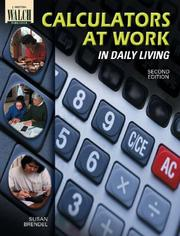 Cover of: Calculators at Work in Daily Living | Susan Brendel