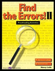 Cover of: Find the Errors! II