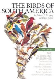 Cover of: birds of South America | Robert S. Ridgely