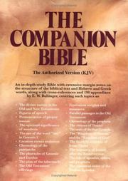 Cover of: The Companion Bible |