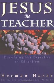 Cover of: Jesus, the teacher