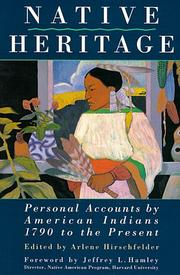 Cover of: Native Heritage