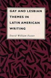 Cover of: Gay and lesbian themes in Latin American writing | David William Foster