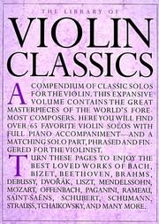 Cover of: Library Of Violin Classics |