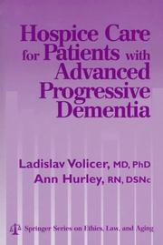 Cover of: Hospice care for patients with advanced progressive dementia |