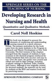 Cover of: Developing Research in Nursing and Health | Carol Noll Hoskins