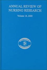 Cover of: Annual Review of Nursing Research, Volume 18, 2000 | Joyce J. Fitzpatrick
