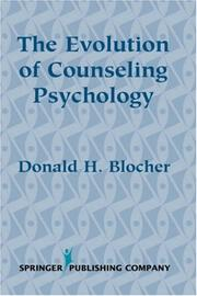 Cover of: The evolution of counseling psychology