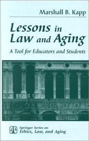 Cover of: Lessons in Law and Aging