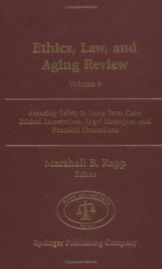 Cover of: Ethics, Law, and Aging Review