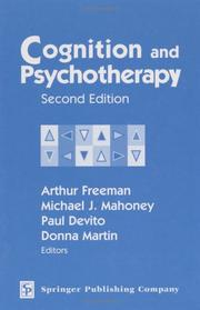 Cover of: Cognition and Psychotherapy |