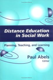 Cover of: Distance Education In Social Work | Paul Abels
