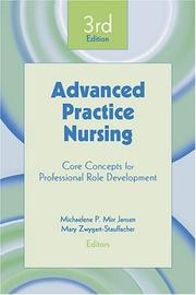 Cover of: Advanced practice nursing by
