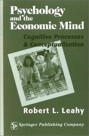 Cover of: Psychology and the Economic Mind
