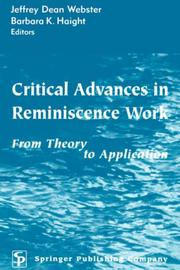 Cover of: Critical advances in reminiscence work by