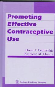 Cover of: Promoting effective contraceptive use