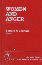 Cover of: Women and anger |