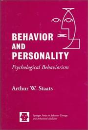 Cover of: Behavior and personality